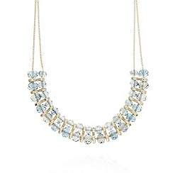 The Collection - Blue glass bead short necklace
