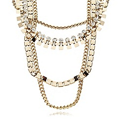The Collection - Gold plated multi chain necklace