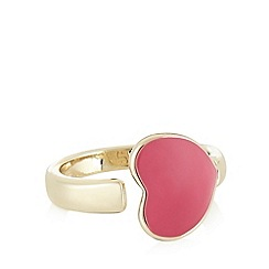 Floozie by Frost French - Pink enamel heart ring