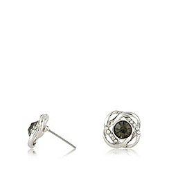 No. 1 Jenny Packham - Designer silver plated stone knot stud earrings