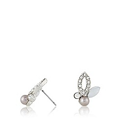 No. 1 Jenny Packham - Designer silver plated clustered stone and pearly earrings