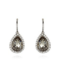 No. 1 Jenny Packham - Designer silver plated stone teardrop earrings