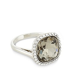 No. 1 Jenny Packham - Designer small silver plated faceted stone ring