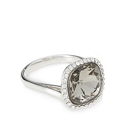 No. 1 Jenny Packham - Designer large silver plated faceted stone ring
