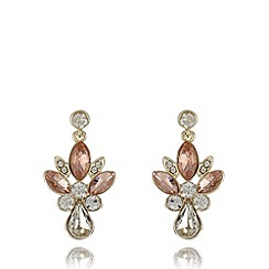 No. 1 Jenny Packham - Designer gold plated clustered stone drop earrings