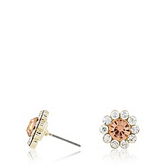 No. 1 Jenny Packham - Designer gold plated stone flower stud earrings