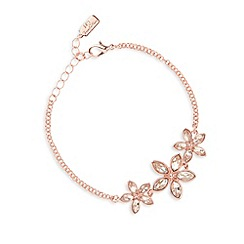No. 1 Jenny Packham - Designer rose gold plated stone flower bracelet