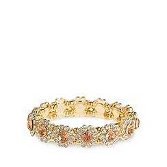 No. 1 Jenny Packham - Designer gold plated stone flower stretch bracelet