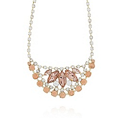 No. 1 Jenny Packham - Designer gold rose bib necklace