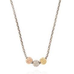 J by Jasper Conran - Designer sterling silver triple swirl ball necklace