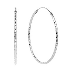 J by Jasper Conran - Designer sterling silver faceted hoop earrings