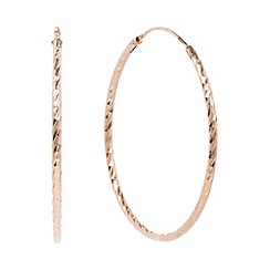 J by Jasper Conran - Designer rose gold vermeil faceted hoop earrings