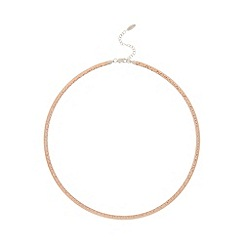 J by Jasper Conran - Designer rose gold vermeil hammered omega necklace