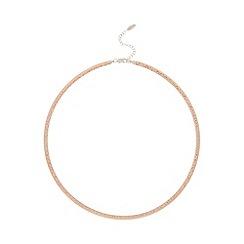 J by Jasper Conran - Designer rose gold vermeil hammered omega necklace