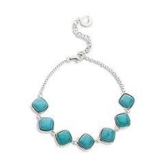 Van Peterson 925 - Designer sterling silver turquoise squares bracelet