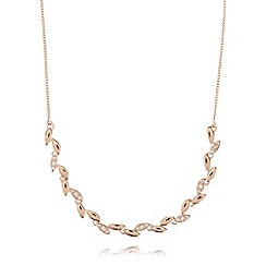 Van Peterson 925 - Rose vine leaf necklace
