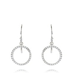 J by Jasper Conran - Designer silver plated circle earrings