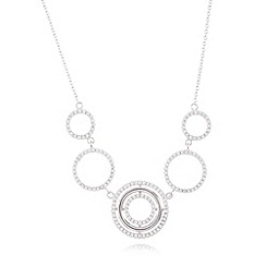 J by Jasper Conran - Designer sterling silver circle link necklace