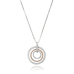 J by Jasper Conran - Designer sterling silver concentric rings necklace
