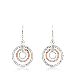 J by Jasper Conran - Designer sterling silver concentric rings drop earrings