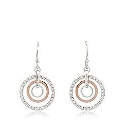 J by Jasper Conran - Designer sterling silver concentric rings drop earrings