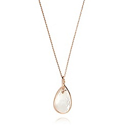 J by Jasper Conran - Designer rose gold vermeil jewel drop necklace