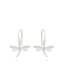 Van Peterson 925 - Designer sterling silver dragonfly earrings