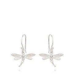 Van Peterson 925 - Designer sterling silver dragonfly earrings