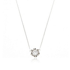 Van Peterson 925 - Designer sterling silver flower stud necklace