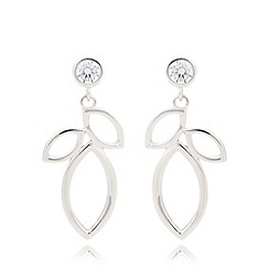 Van Peterson 925 - Designer sterling silver leaf pendant earrings