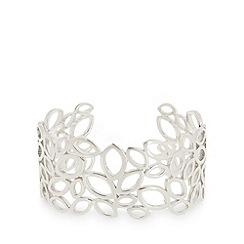 Van Peterson 925 - Designer sterling silver leaf cuff bracelet