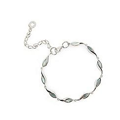 Van Peterson 925 - Designer sterling silver leaf chain bracelet