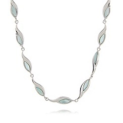 Van Peterson 925 - Designer sterling silver leaf chain necklace