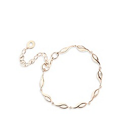 Van Peterson 925 - Designer rose gold leaf chain bracelet