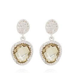 Van Peterson 925 - Designer sterling silver stone embellished earrings