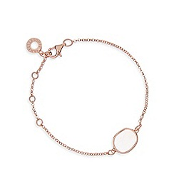 Van Peterson 925 - Rose gold vermeil gem bracelet