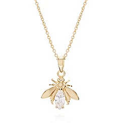 Van Peterson 925 - Designer gold vermeil insect pendant necklace