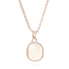 Van Peterson 925 - Moonstone and rose gold vermeil necklace