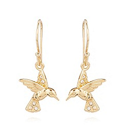 Van Peterson 925 - Designer gold vermeil bird earrings