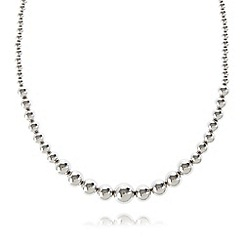 J by Jasper Conran - Designer silver plated ball necklace