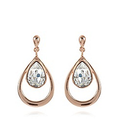 J by Jasper Conran - Designer rose gold plated teardrop earrings