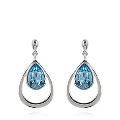 J by Jasper Conran - Designer silver plated teardrop earrings