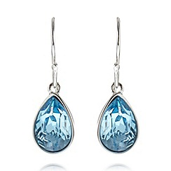 J by Jasper Conran - Designer silver plated teardrop stone earrings