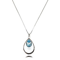 J by Jasper Conran - Designer silver plated teardrop necklace