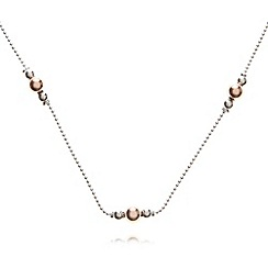 J by Jasper Conran - Designer sterling silver four chain ball necklace