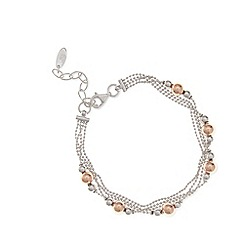 J by Jasper Conran - Designer sterling silver four chain ball bracelet