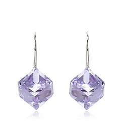J by Jasper Conran - Designer sterling silver 3D provence lavender cube drop earrings