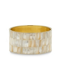 The Collection - Gold shell insert bangle
