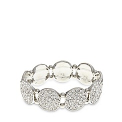 The Collection - Silver plated circle embellished bracelet