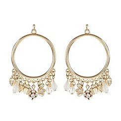 The Collection - Gold plated charm loop dangle earrings